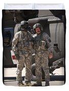 Uh-60 Black Hawk Crew Chiefs Duvet Cover