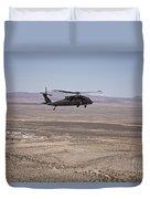 Uh-60 Black Hawk En Route To New Mexico Duvet Cover
