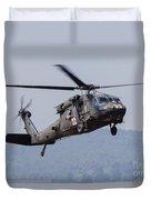 Uh-60a Black Hawk Medevac Helicopter Duvet Cover