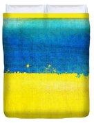 Ukraine Flag Duvet Cover by Setsiri Silapasuwanchai