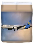 Ukraine International Airlines Boeing 737-8eh Duvet Cover