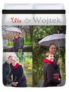 Ula And Wojtek Engagement 1 Duvet Cover
