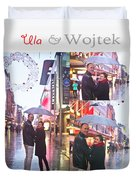 Ula And Wojtek Engagement 2 Duvet Cover