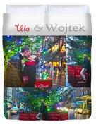 Ula And Wojtek Engagement 4 Duvet Cover