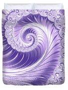 Ultra Violet Luxe Spiral Duvet Cover