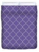 Ultra Violet Quatrefoil Duvet Cover