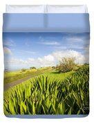 Ulupalakua Country Road Duvet Cover by Ron Dahlquist - Printscapes