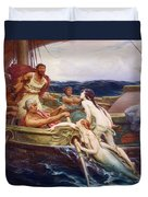 Ulysses And The Sirens Duvet Cover by Herbert James Draper