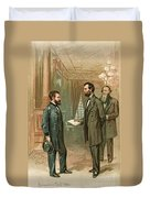 Ulysses S. Grant With Abraham Lincoln Duvet Cover
