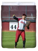 Umass Outfielder 4 Duvet Cover