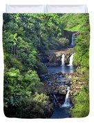 Umauma Falls Hawaii Duvet Cover by Daniel Hagerman