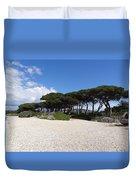 Umbrella Pine, Lerins Island Duvet Cover