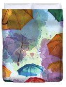 Umbrella Sky Duvet Cover