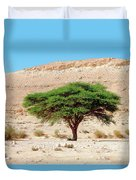 Umbrella Thorn Acacia, Negev Israel Duvet Cover