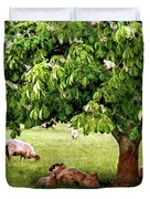 Umbrella Tree Duvet Cover