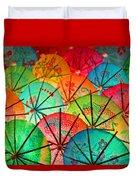 Umbrellas Galore Duvet Cover