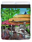 Umbrellas Duvet Cover by TM Gand