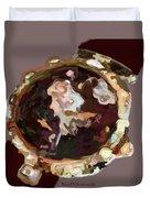 Umbria Florals Timepiece Duvet Cover