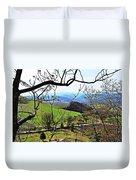 Umbria Mountains Duvet Cover