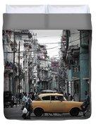 Un Taxi Amarillo Duvet Cover
