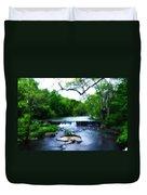 Unami Creek Dam Duvet Cover by Bill Cannon