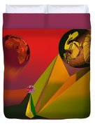 Unbalanced-the Source Of Violence Duvet Cover
