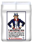 Uncle Sam -- I Am Telling You Duvet Cover