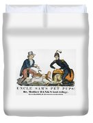 Uncle Sam: Cartoon, 1840 Duvet Cover