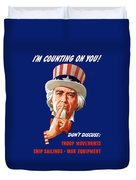 Uncle Sam - I'm Counting On You Duvet Cover