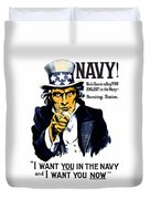 Uncle Sam Wants You In The Navy Duvet Cover by War Is Hell Store