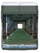 Under Clearwater Pier 60 Duvet Cover