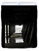 Under Santa Monica Pier Duvet Cover