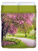 Under The Apple Tree Duvet Cover