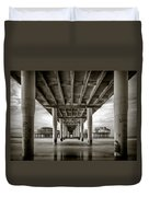 Under The Boardwalk Duvet Cover by Dave Bowman