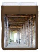 Under The Boardwalk Except It's The Pier Duvet Cover