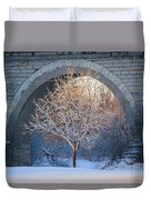 Under The Bridge, A Winter's Song Duvet Cover