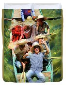 Under The Bridge Vietnamese Smiles  Duvet Cover