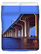 Under The Bridge With Lights 01175 Duvet Cover