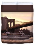 Under The Brooklyn Bridge  Duvet Cover