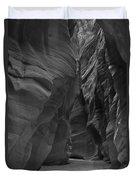 Under The Desert In Black And White Duvet Cover