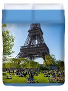 Under The Eiffel Tower, Paris Duvet Cover