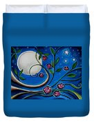 Under The Glowing Moon Duvet Cover