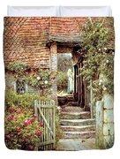 Under The Old Malthouse Hambledon Surrey Duvet Cover by Helen Allingham