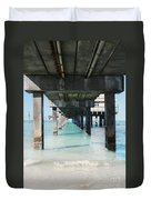 Under The Pier Duvet Cover by Lynn Jackson