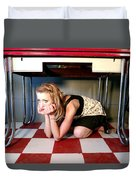 Under The Table Duvet Cover