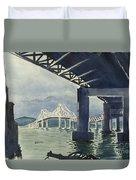 Under The Tappan Zee Bridge Duvet Cover