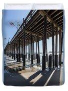 Under The Ventura Pier In Southern California Duvet Cover