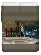 Under The Viaduct A Panoramic Urban View Duvet Cover