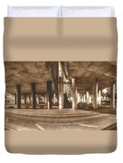 Under The Viaduct B Panoramic Urban View Duvet Cover