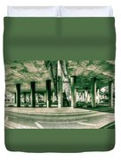 Under The Viaduct C Panoramic Urban View Duvet Cover